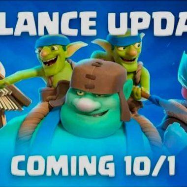 Nuevos cambios de balance 1 de octubre