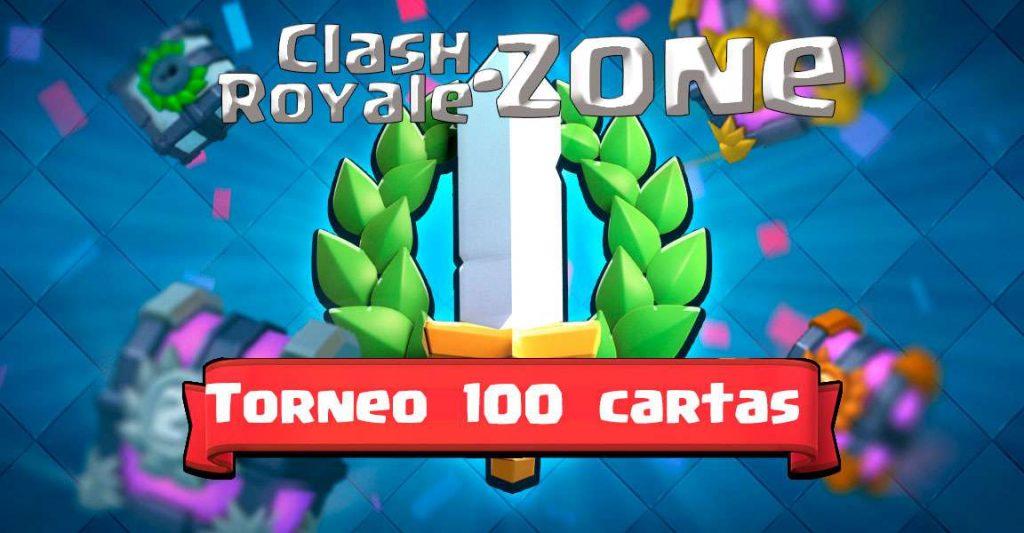 Imagen de presentación de torneos de 100 cartas Clash Royale Zone