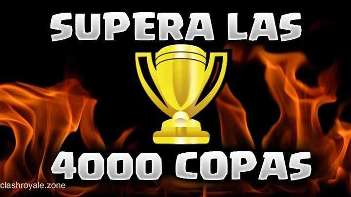 Mazos para superar las 4000 copas en Clash Royale